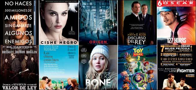 nominaciones oscar mejor película